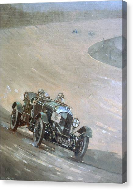 Racecar Drivers Canvas Print - 24 Hour Race At Brookland by Peter Miller