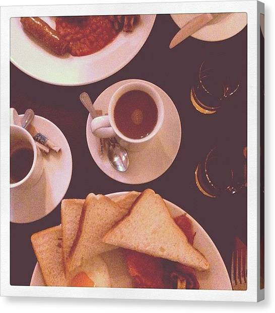 Tables Canvas Print - 25. Breakfast #marchphotoaday by Emma Hollands
