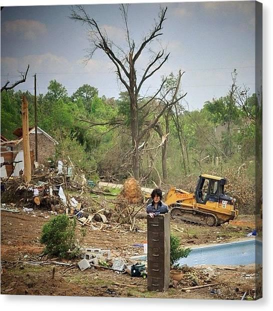 Tornadoes Canvas Print - 27 April, 2011 Birmingham, Alabama by Molly Slater Jones