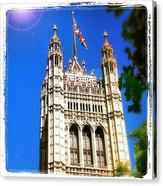 Parliament Canvas Print - #london #2012 #instagramhub #instadaily by Neil Ormsby