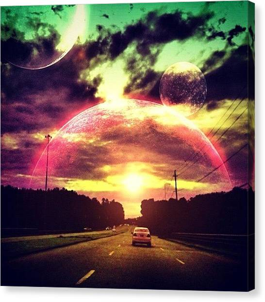 Outer Space Canvas Print - Instagram Photo by Katie Williams