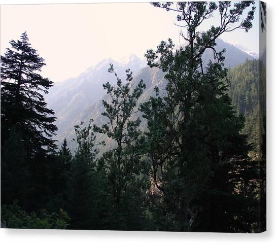 Splendors Of Himalayas Canvas Print by Anand Swaroop Manchiraju