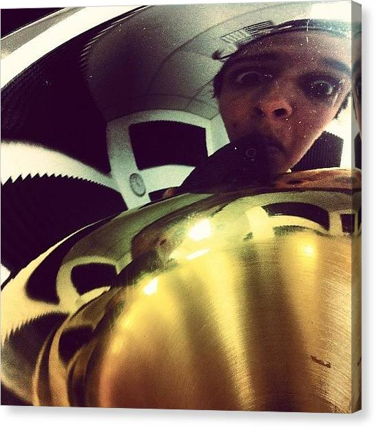 Trumpets Canvas Print - 2much Fun At Nick Rail #trumpet #horn by Evita Huapaya