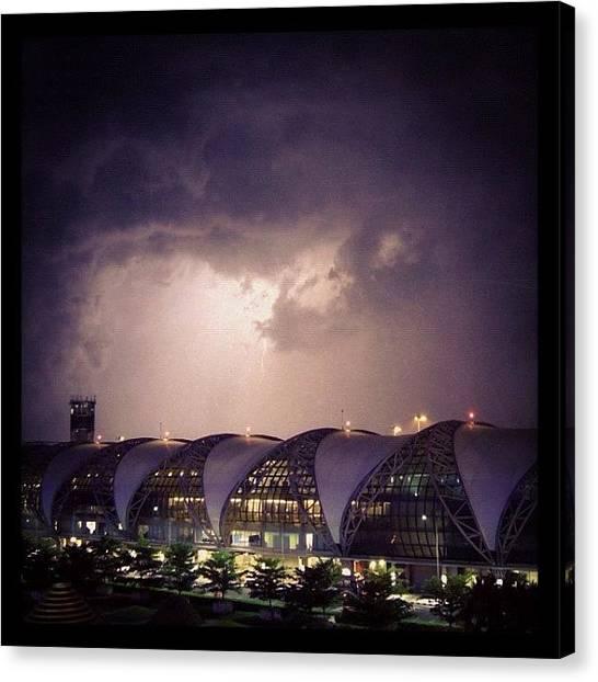 Lightning Canvas Print - Погода лётная! by Stan Chashchnikov