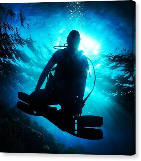 Scuba Diving Canvas Print - #all_shots #bestpic #clubsocial by Arturo Brook