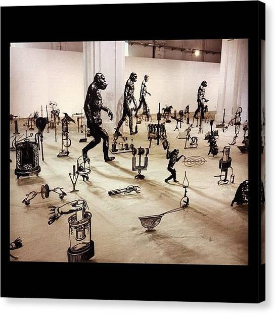 Apes Canvas Print - #art #artist #sculpture #modern by Anna P