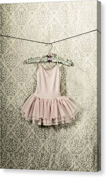 Coat Hanger Canvas Print - Ballet Dress by Joana Kruse