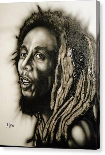 Bob Marley  Canvas Print by Stephen Sookoo
