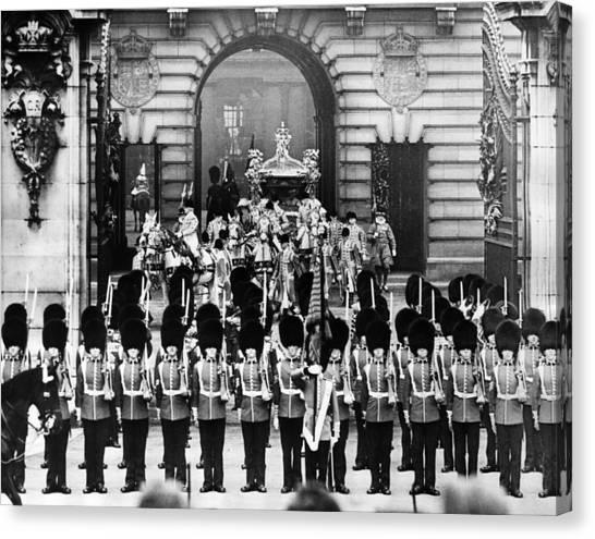 British Royalty. Coronation Procession Canvas Print by Everett