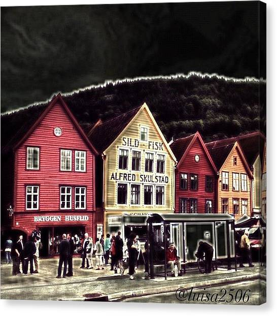 Cool Canvas Print - Bryggen by Luisa Azzolini