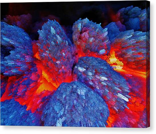 Charcoal Fire Canvas Print
