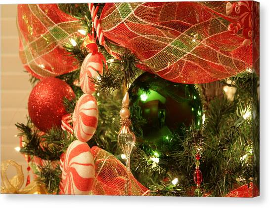 Christmas Ornaments Canvas Print by Lonnie Moore