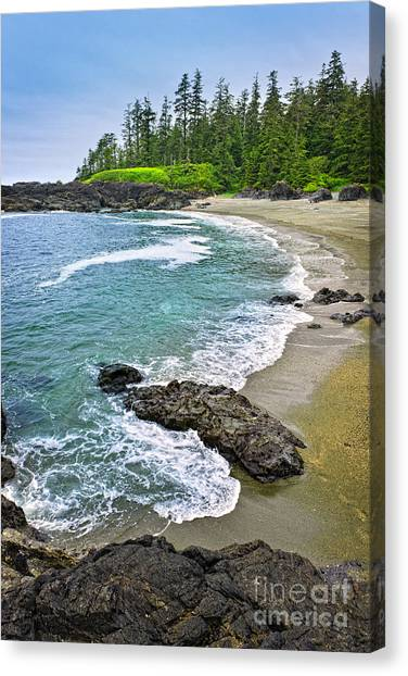 Vancouver Island Canvas Print - Coast Of Pacific Ocean In Canada by Elena Elisseeva