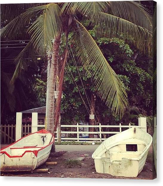 Berlin Canvas Print - <3 #costarica #jaco #boats #beach by Berlin Green