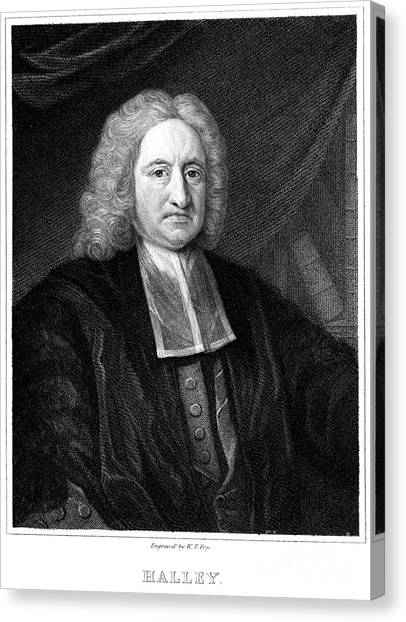 Diving Bell Canvas Print - Edmond Halley, English Polymath by Science Source