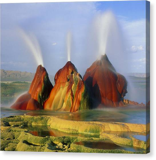 Black Rock Desert Canvas Print - Fly Geyser In The Black Rock Desert, Nevada, Usa by Keith Kent