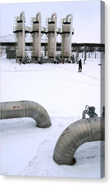 Gas Fuel Compressor Plant Canvas Print by Ria Novosti