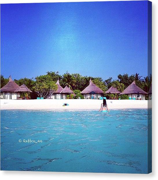 Heaven Canvas Print - Good Morning Peeps, The Maldives by Raffaele Salera