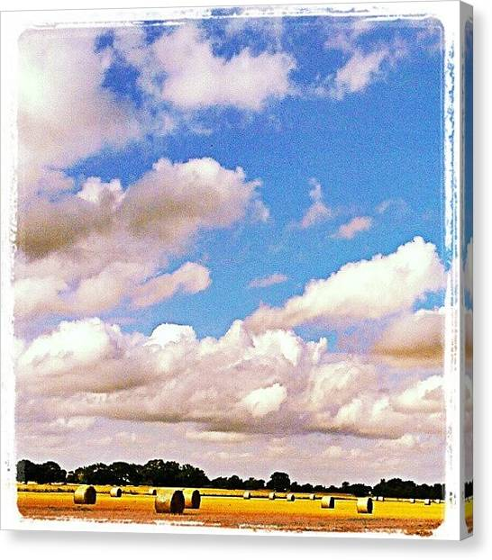 Harvest Canvas Print - #iloveclouds #outdoors #cloudscape by Amanda Earl