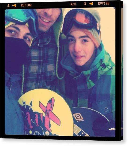 Snowboarding Canvas Print - #instagram #instaprint #instacanvas by Oprea George