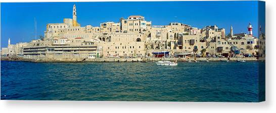 Jaffa Harbour Panorama Canvas Print by Daniel Blatt