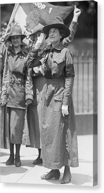 Girl Scouts Canvas Print - Juliette Gordon Low, Founder by Everett
