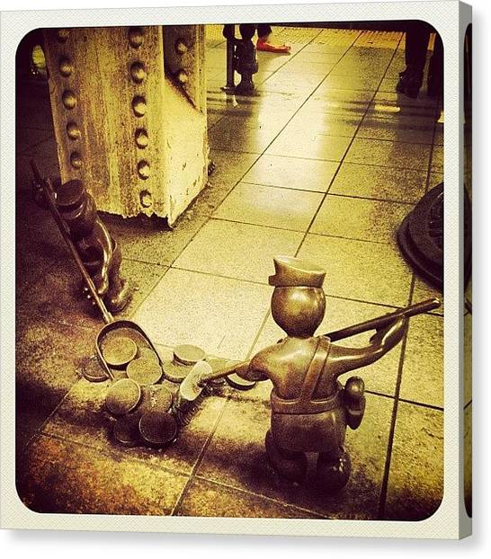 Feet Canvas Print - life Underground By Tom Otterness by Natasha Marco