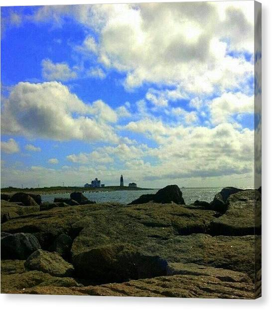 Rhode Island Canvas Print - Lighthouse In Rhode Island by Oliver Wintermantel