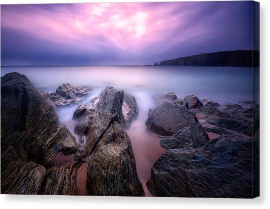 3 Minutes At Leas Foot Canvas Print by Mark Leader