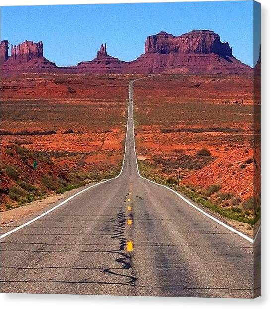 Indians Canvas Print - Monument Valley by Isabel Poulin