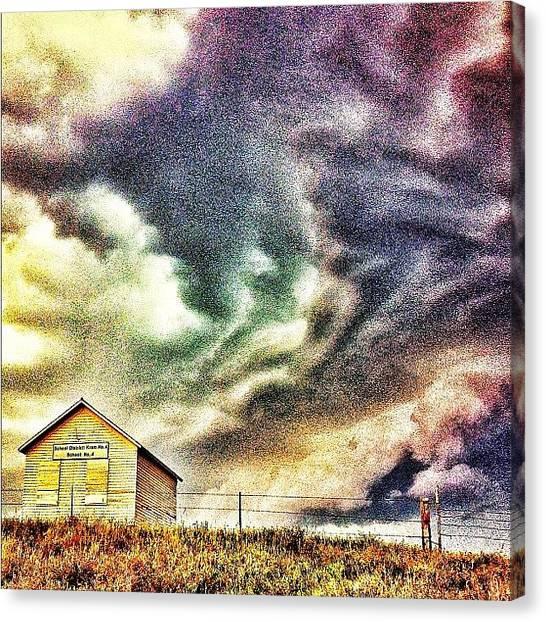 Thunderstorms Canvas Print - #northdakota #clouds #sky #skyporn by Emily Nielsen