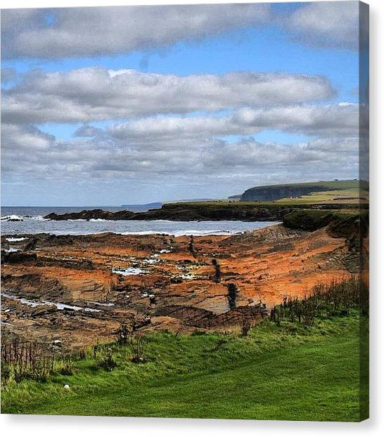 Travel Canvas Print - Orkney's Landscape by Luisa Azzolini