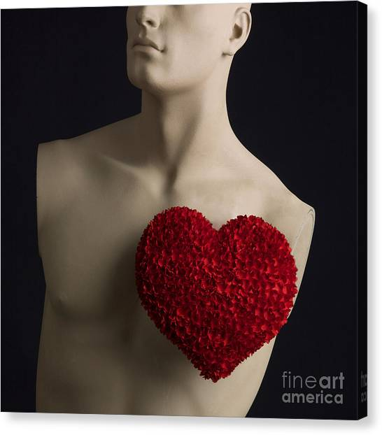 Dummies Canvas Print - Red Heart by Bernard Jaubert