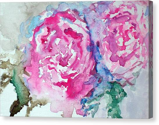 Red Roses Canvas Print by Raymond Doward