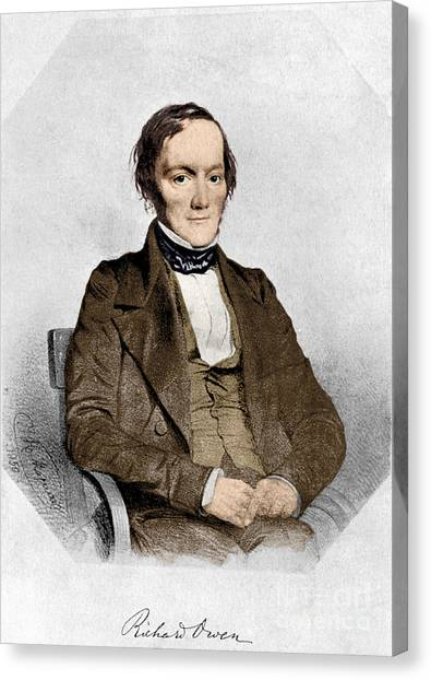 The British Museum Canvas Print - Richard Owen, English Paleontologist by Science Source