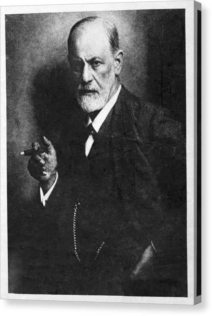 Unconscious Canvas Print - Sigmund Freud, Austrian Psychologist by Humanities & Social Sciences Librarynew York Public Library
