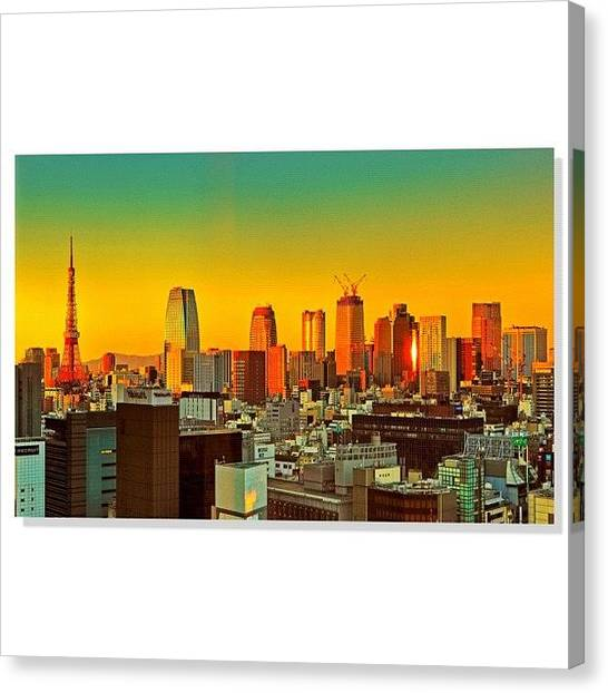 Japanese Canvas Print - #squaready #sky_perfection by Tommy Tjahjono