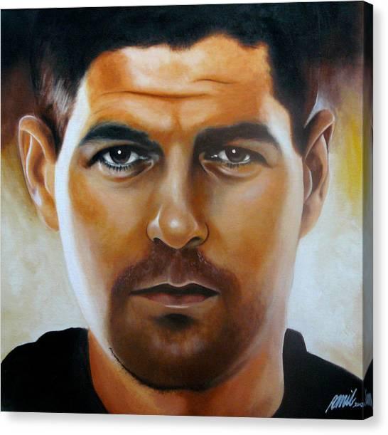 Steven Gerrard Painting Canvas Print by Ramil Roscom Guerra