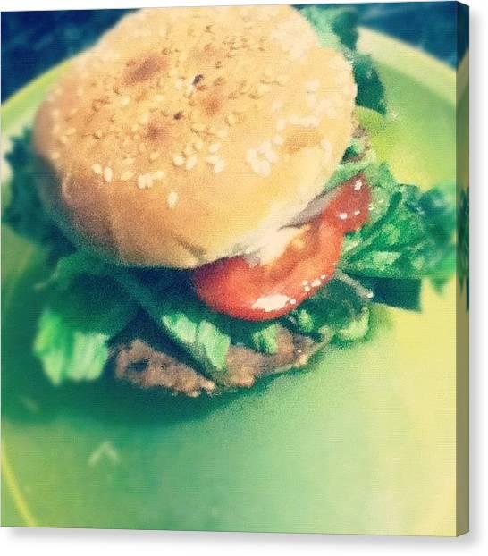 Hamburger Canvas Print - :3 Tengo Hambre #hamburger #flavor by Denisse Luna