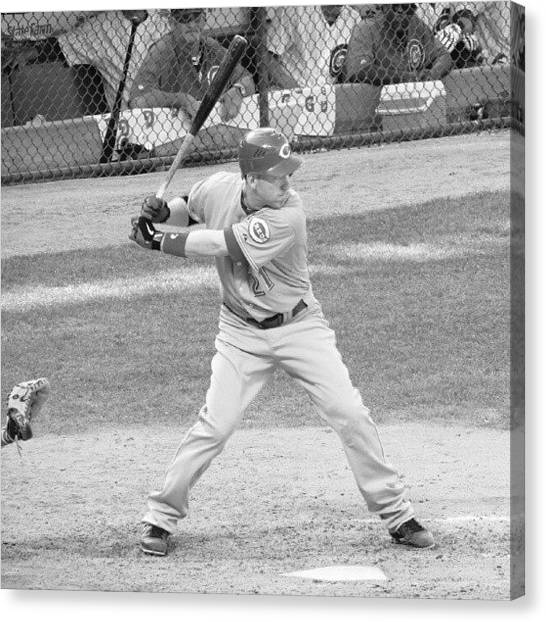 Mlb Canvas Print - Todd Frazier  by Reds Pics