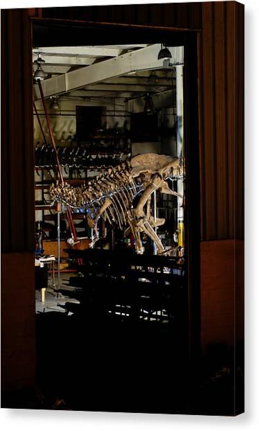 Steak Canvas Print - Tyrannosaurus Rex Refurbishment by Volker Steger