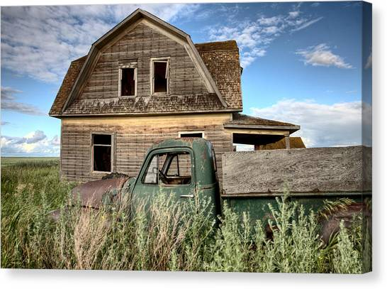 Rusty Truck Canvas Print - Vintage Farm Trucks by Mark Duffy
