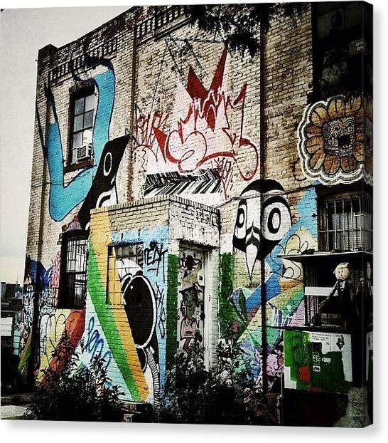 Graffiti Canvas Print - Williamsburg Graffiti by Natasha Marco