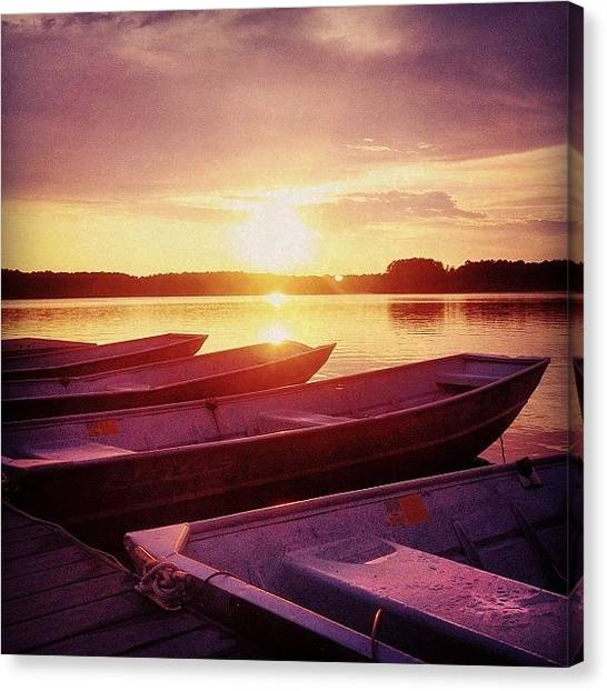 Lake Sunsets Canvas Print -  by Katie Williams