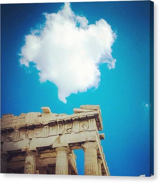 The Acropolis Canvas Print - Instagram Photo by Stephen Whitaker