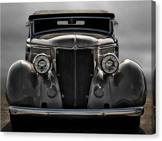 Classic Hotrod Canvas Print - '36 Ford Convertible Coupe by Douglas Pittman