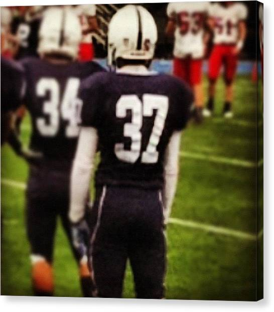 Athlete Canvas Print - #37 Is My #nephew #iam A #veryproud by Roc Star