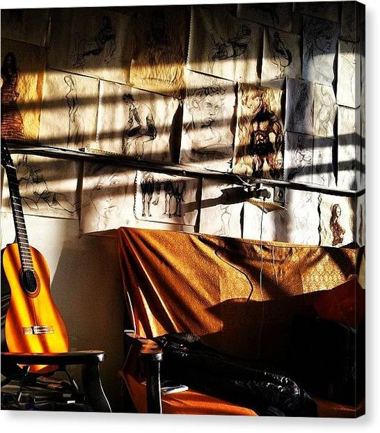 Guitars Canvas Print - Instagram Photo by Keyvan Shokrollahi