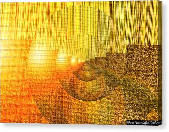 Figurative Shells Canvas Print by Mihaela Stancu