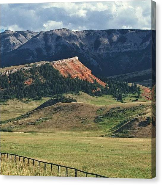 Wyoming Canvas Print - Instagram Photo by Kate W